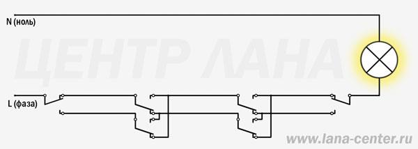 Схема подключения Схемы проходных выключателей позволяют...  19 мар 2012.